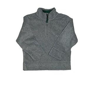 Carter's Little Boys' Pullover Fleece Jacket- HALF ZIPPER - Grey