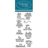 """Planner Inspiration - Technique Tuesday Clear Stamps 2""""X4"""""""