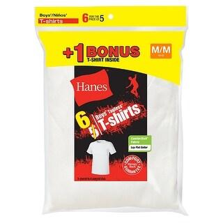 Hanes Boys' TAGLESS Crewneck Undershirt 6-Pack (Includes 1 Free Bonus Undershirt)