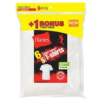 Hanes Boys' TAGLESS® Crewneck Undershirt 6-Pack (Includes 1 Free Bonus Undershirt) - Size - L - Color - White