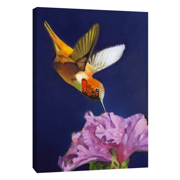 """PTM Images 9-105465 PTM Canvas Collection 10"""" x 8"""" - """"Rufous Hummingbird"""" Giclee Hummingbirds Art Print on Canvas"""