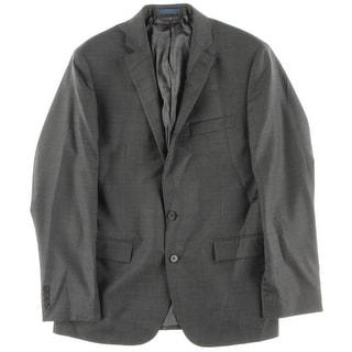 Ryan Seacrest Mens Wool Glen Plaid Two-Button Suit Jacket - 40R