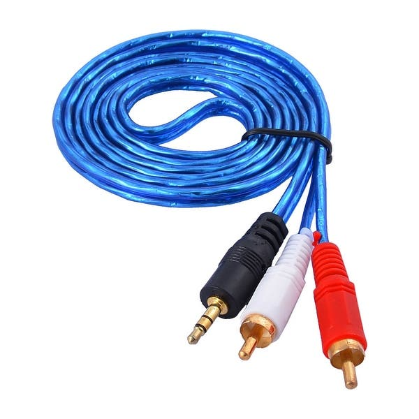 Shop 1.5M Long 3.5mm Male to 2 RCA Male Plug Stereo MP3 ...  Mm Audio Cable Wiring on ethernet cable wiring, rca cable wiring, coax cable wiring, svga cable wiring, serial cable wiring, 3.5mm audio connector, parallel cable wiring, composite cable wiring,