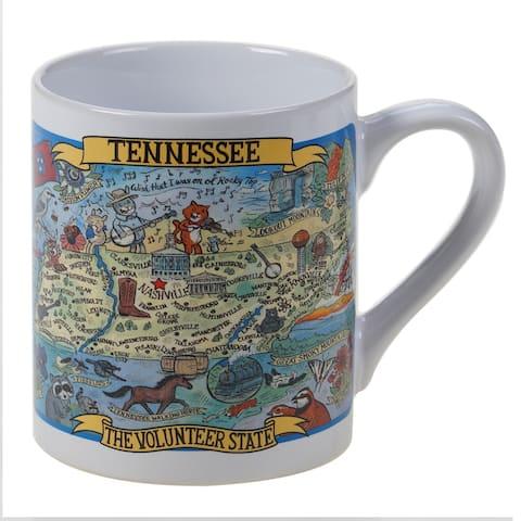 Certified International Tennessee Souvenir Jumbo Mugs (Set of 6)