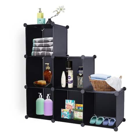 6-Cube Closet Organizer Storage Shelves Cube Storage