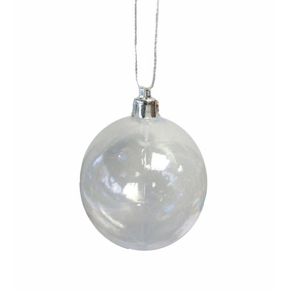 "Clear Transparent Shatterproof Christmas Ball Ornament 4.75"" (120mm)"