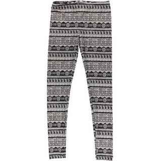 Hippie Rose Womens Juniors Printed Pull On Leggings - XS