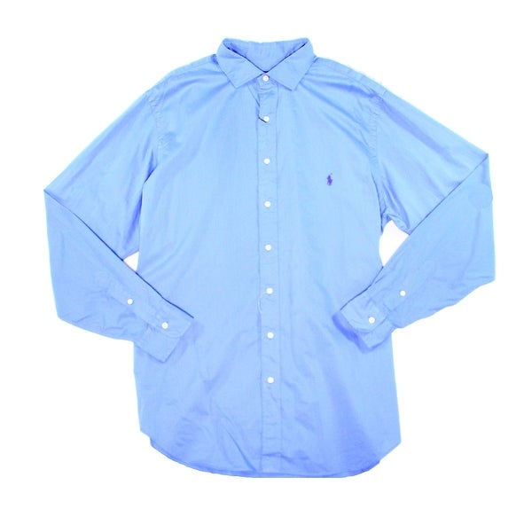 ccf8b10e Shop Polo Ralph Lauren NEW Blue Mens Size 2XL Button Down Long-Sleeve Shirt  - Free Shipping Today - Overstock - 19483368