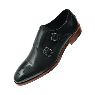 Asher Green Mens Genuine Calf Leather Monk Strap