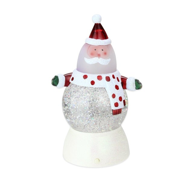 """7"""" Battery Operated LED Lighted Color-Changing Santa Claus Christmas Glitterdome - multi"""