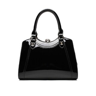 Style Strategy Alice Patent Leather Bag Black