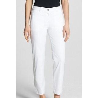 Eileen Fisher NEW White Women Medium M Organic Cotton Slim Ankle Pants
