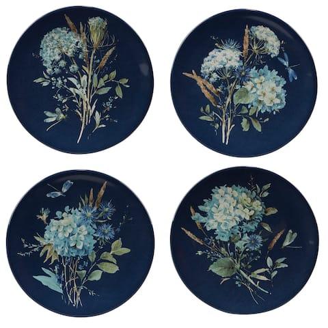 Certified International Bohemian Blue 9-inch Salad/Dessert Plates, Set of 4