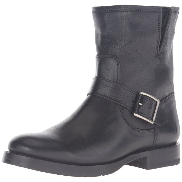 FRYE Womens Natalie Leather Round Toe Ankle Motorcycle Boots - 6.5