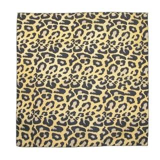 CTM® Women's Cotton Leopard Print Bandanas - TAN - One size