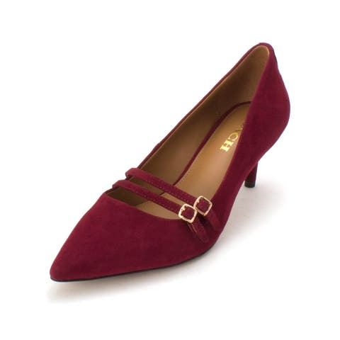 41823124526 Coach Womens London Pointed Toe Mary Jane Pumps - 8.5