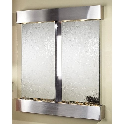 Adagio Cottonwood Falls Wall Fountain Silver Mirror Stainless Steel - CFS2040 - Thumbnail 0