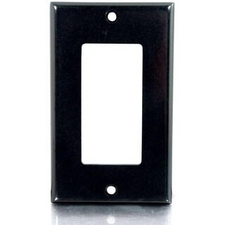 C2G 03730 C2G Decora Style Single Gang Wall Plate - Black - 1-gang - Black