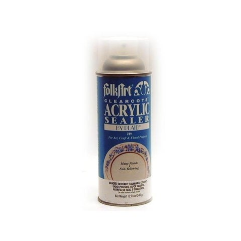 Plaid Folkart Clearcote Matte Acry Spry Seal 12oz