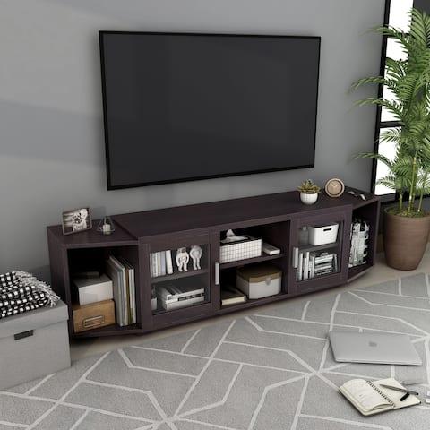 Furniture of America Rasa Contemporary 72-inch Storage 8-shelf TV Stand