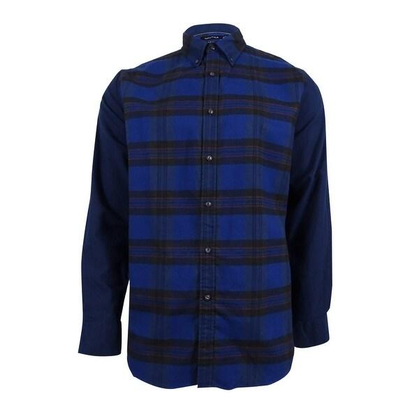 Nautica Men's Slim-Fit Helmsman Colorblocked Plaid Shirt