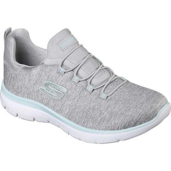 70ee852b6cf3 Shop Skechers Women s Summits Quick Getaway Sneaker Light Gray Aqua ...
