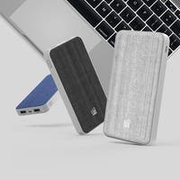 LAX Fabric 10000mAh Dual USB Portable Power Bank Battery