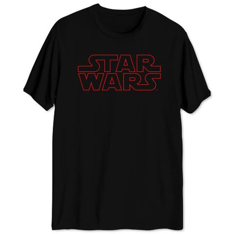 Star Wars Mens T-Shirts Black Size Small S Red Logo Pullover Graphic