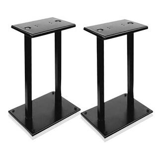 Heavy-Duty Steel Quad Support Bookshelf - Monitor Speaker Stands