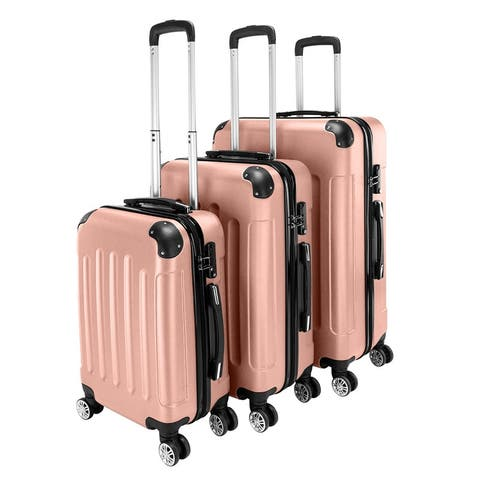 """3-in-1 Portable ABS Trolley Case Suitcase Luggage Set 20"""" / 24"""" / 28"""""""
