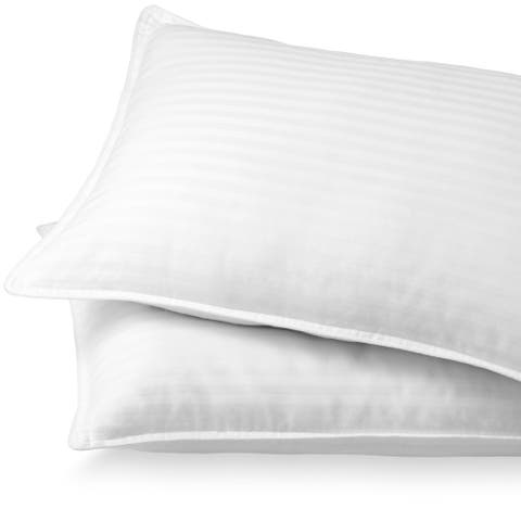 Bare Home Down Alternative Pillows - Plush Fiber Fill - Hypoallergenic - White