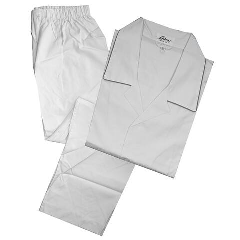 Brioni Mens Solid White Pajamas size L