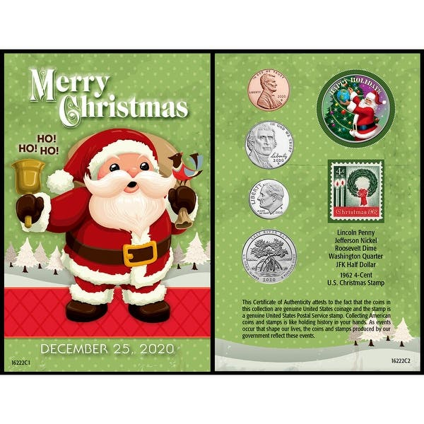 Photo Christmas Cards 2020 Under 25 Cent Each Shop Santa Year To Remember 2020 Coin Christmas Card   4