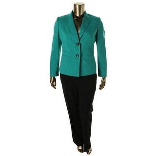 Le Suit Womens The Hamptons Textured 2PC Pant Suit