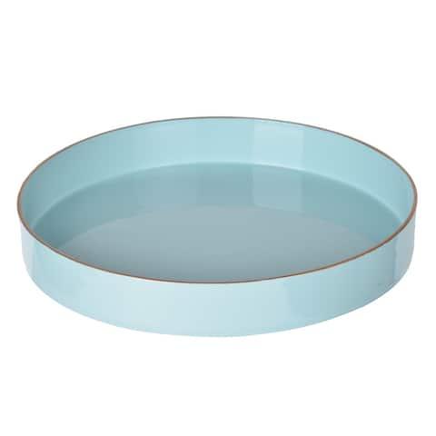 Mimosa Round Tray - Powder Blue