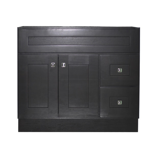"Design House 559070 Brookings 36"" Single Free Standing Wood Vanity Cabinet Only - Espresso"