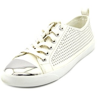 Coach Makayla Round Toe Leather Sneakers