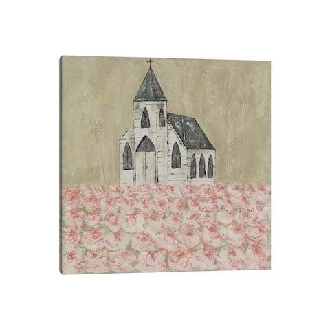 """iCanvas """"Church Peony Field"""" by Ashley Bradley Canvas Print"""