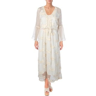 Lucy Paris Womens Maxi Dress Lace Applique Embroidered