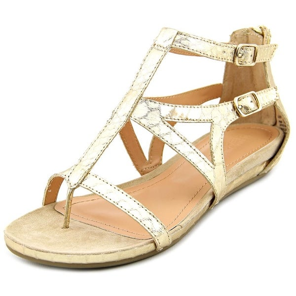 Kenneth Cole Reaction Lost Time Women Open Toe Synthetic Gold Gladiator Sandal