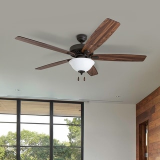 Link to Porch & Den Joy Bronze Finish 60-inch LED Reversible Blade Ceiling Fan w/ Pull-chains - 60 Similar Items in Ceiling Fans