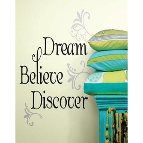 Roommates RMK2082SCS Dream Believe Discover Peel and Stick Wall Decals