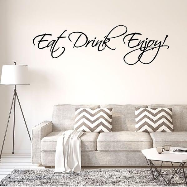 Wall Tattoo Wall Sticker Gormet Lounge Eat Drink Enjoy