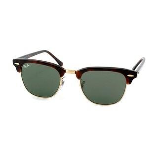 Ray-Ban RB3016 51mm Clubmaster Sunglasses (Tortoise Frame/G-15 Lens)