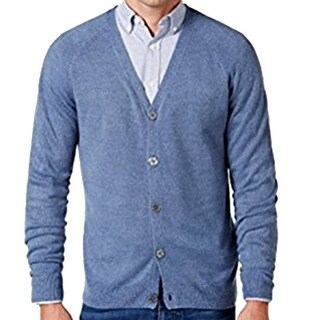 Weatherproof NEW Blue Mens Size XL Button-Front Cardigan Sweater
