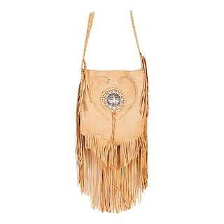 Link to Scully Western Handbag Womens Leather Fringe Concho Flap Honey - One Size Similar Items in Shop By Style
