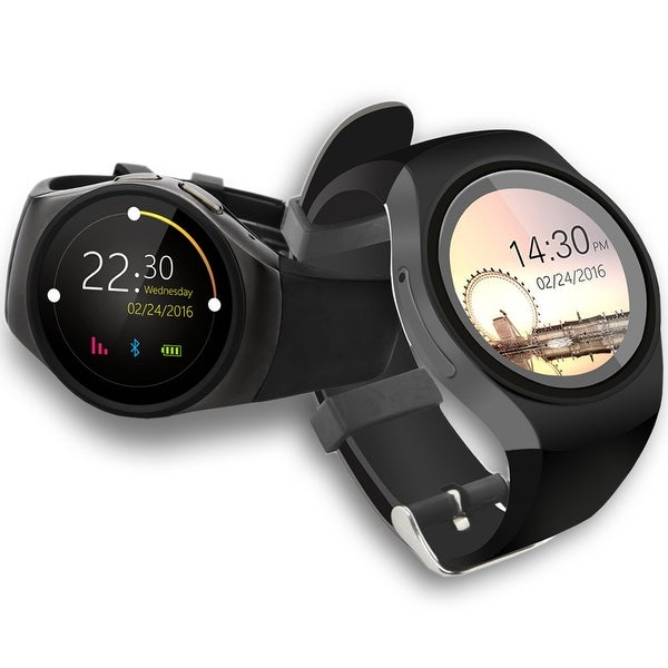 Indigi® A18 iOS & Android Compatible SmartWatch & Phone - Bluetooth Sync + Pedometer + Heart Monitor + Sleep Monitor