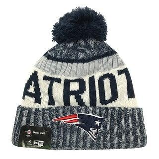 New Era New England Patriots Knit Beanie Cap Hat NFL On Field Sideline 11460390