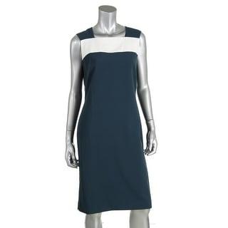Anne Klein Womens Colorblock Sleeveless Wear to Work Dress