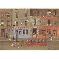 ''Defile du 14 Juillet'' by Michel Delacroix Cityscapes Art Print (12.25 x 17.25 in.)
